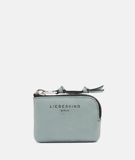 Portemonnaie aus Leder mit breitem Reißverschluss
