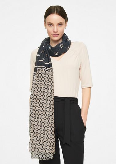 Seidemix-Schal mit Allover-Print