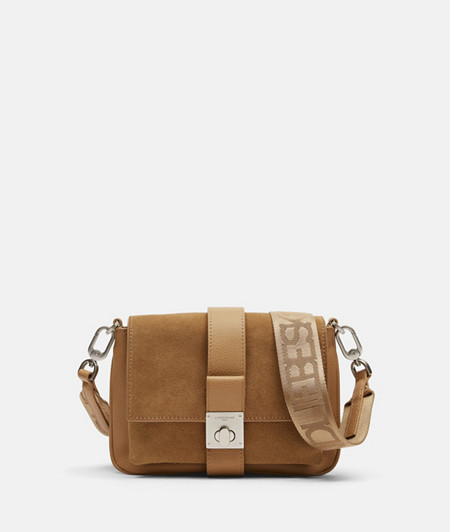 Small leather shoulder bag with very soft suede from liebeskind