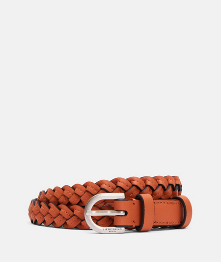 Braided leather belt with pin buckle from liebeskind