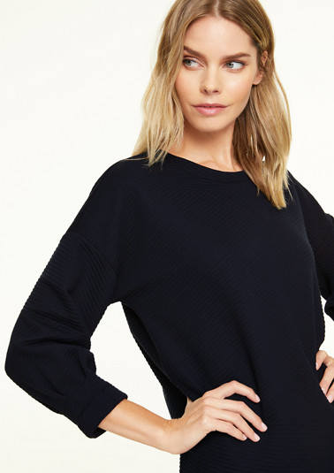 Sweatshirt with 3/4-length sleeves from comma