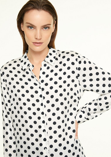 Shirt blouse with polka dots from comma