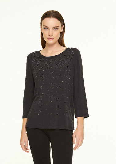 Top with gemstone appliqué from comma