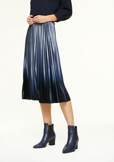 Velvety skirt with ombré effect from comma