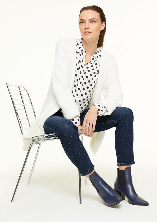 Slim Fit: Jeans mit Dots-Applikation