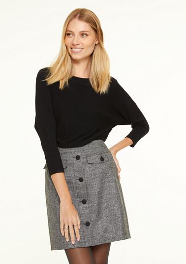 Pullover mit überschnittenen Ärmeln