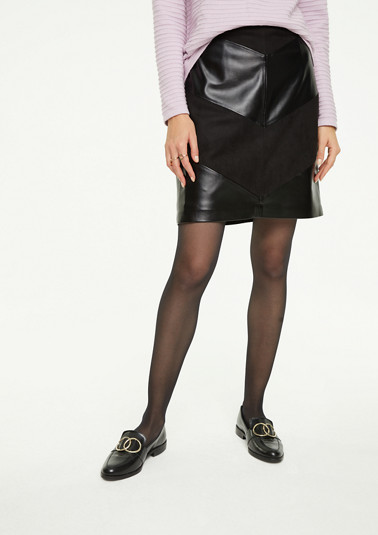 Regular Fit: skirt in a mix of materials from comma