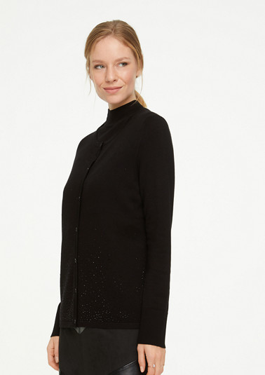 Fine knit cardigan with rhinestones from comma