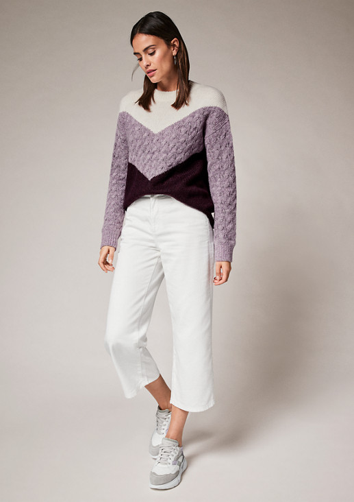 Pullover im Colour Blocking Design