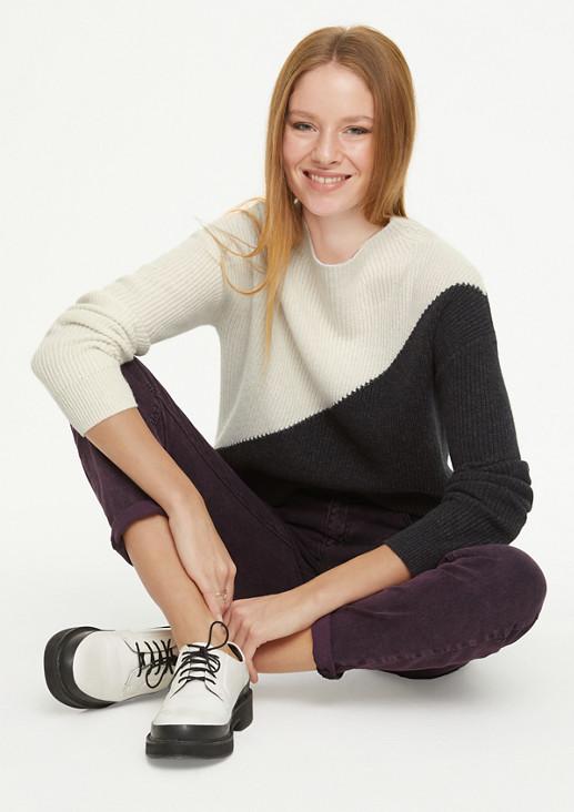 Pullover in Colour Blocking Optik