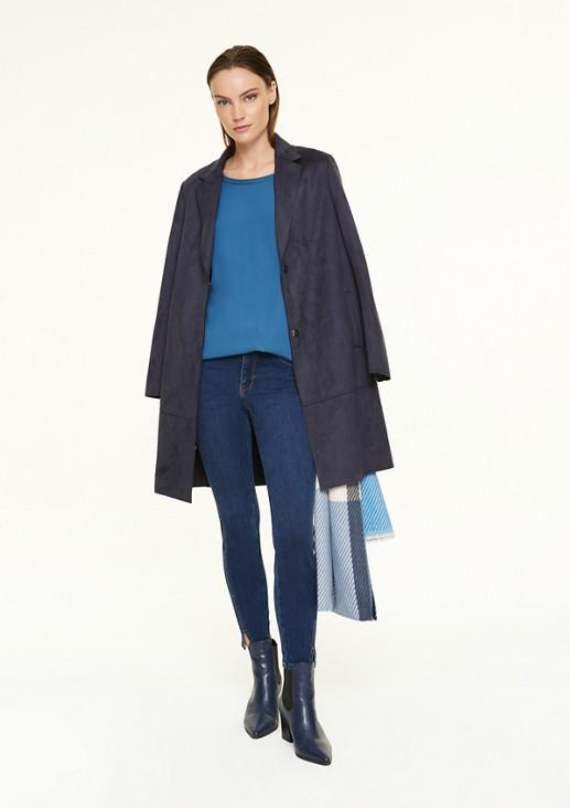 Fabric Mix-Pullover mit Tunnelzug