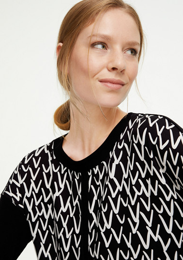 ribbed top with a blouse front from comma