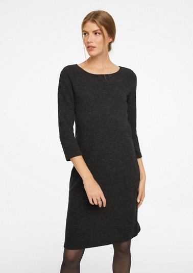 3/4-Arm-Kleid im Melange-Look