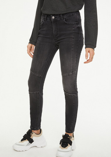 Skinny Fit: Biker-style jeans from comma