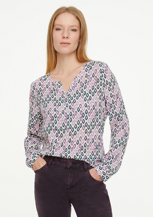 Gemusterte Bluse aus Viskose