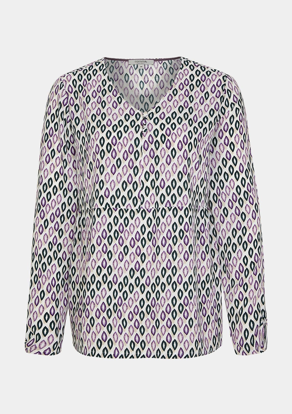 V-Neck-Bluse aus Viskose