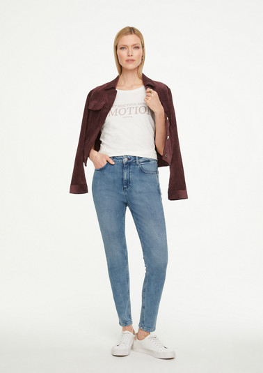 Skinny Fit: Jeans with a garment wash from comma