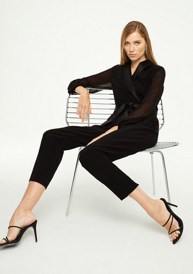 Elegant jumpsuit with chiffon sleeves from comma