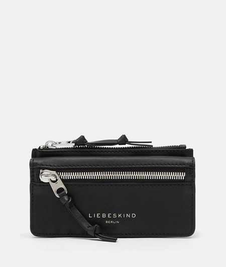 Leather wallet with wide zip from liebeskind