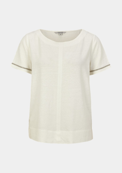 T-shirt with decorative tape from comma