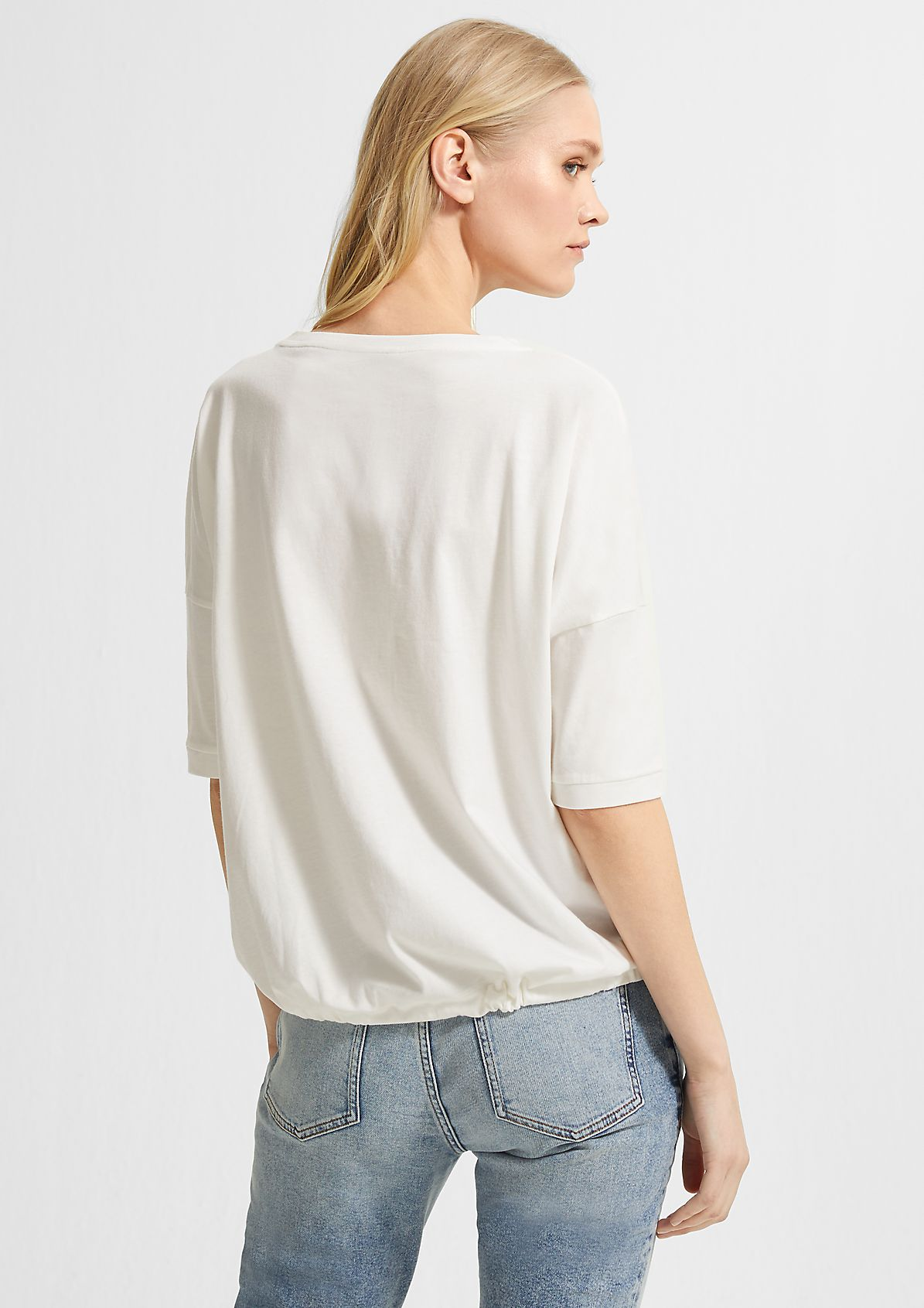 Print top with drawstring from comma