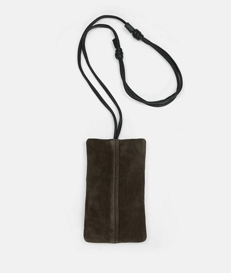 Suede mobile shoulder bag from liebeskind