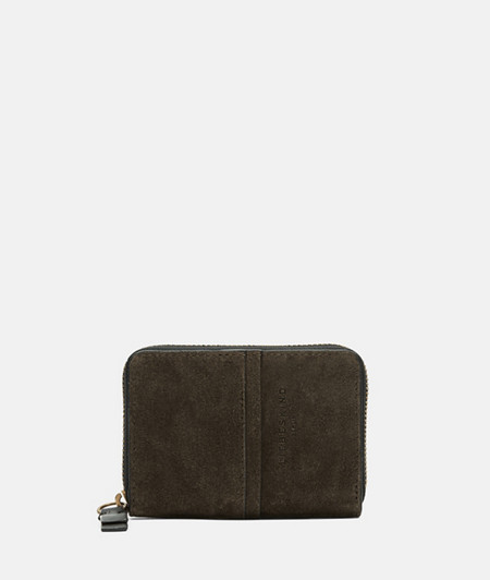 Suede wallet with black edges from liebeskind