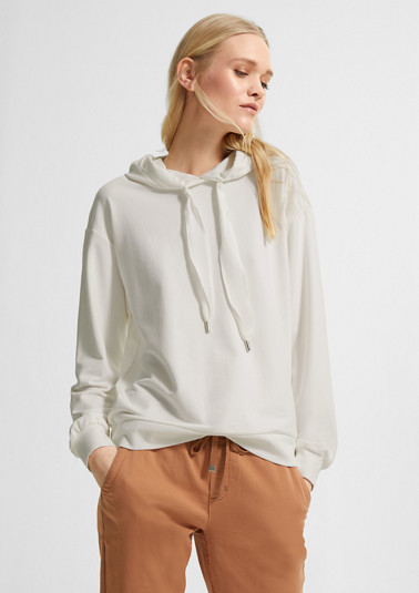 Lightweight sweatshirt with a hood from comma