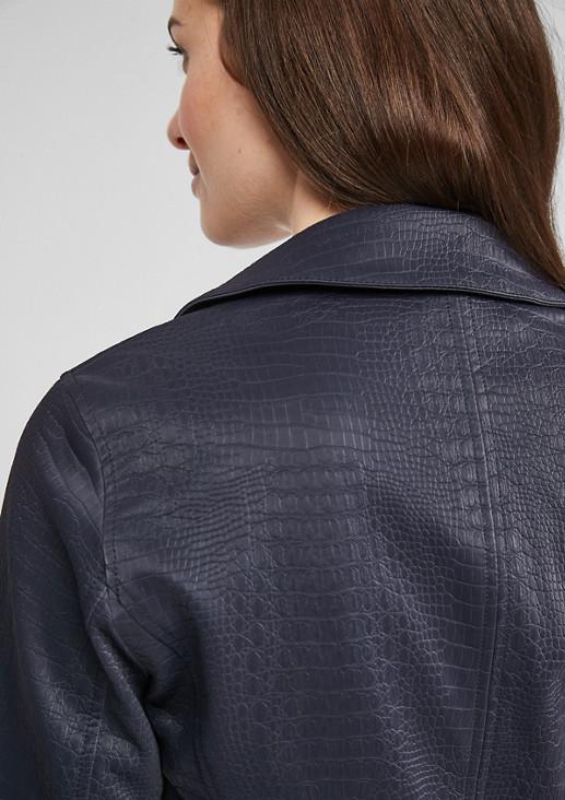Fake-Leather-Jacke im Reptil-Look