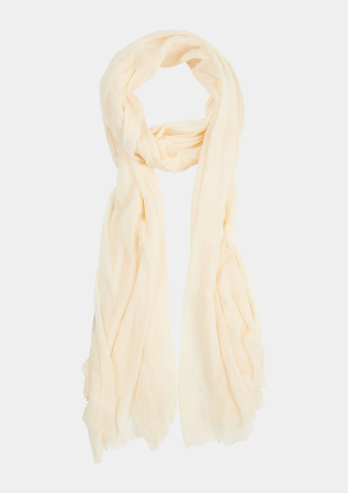 Lightweight summer scarf with fringing from comma