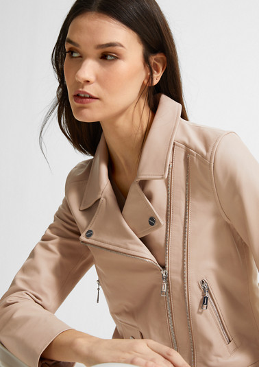 Genuine leather biker jacket from comma