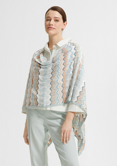 Lightweight poncho with a zigzag pattern from comma