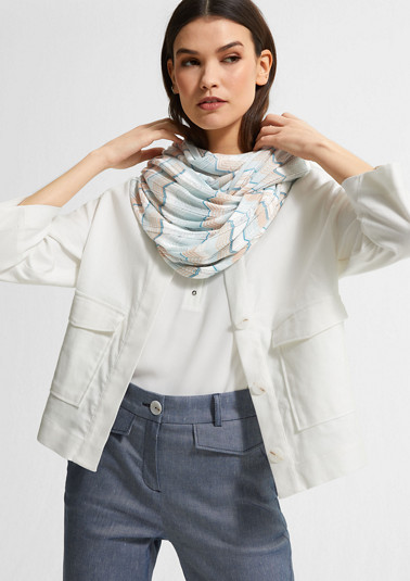 Patterned viscose snood from comma