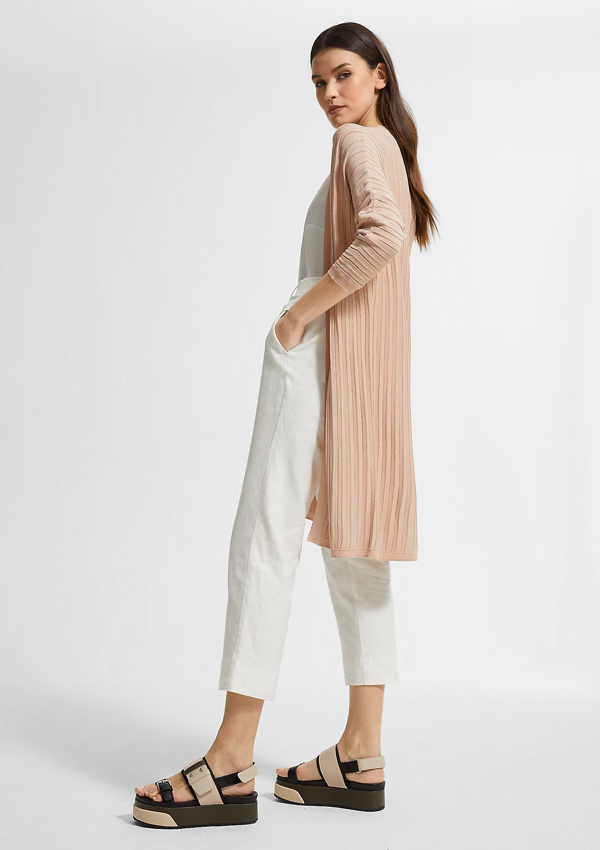 Long jacket with batwing sleeves from comma