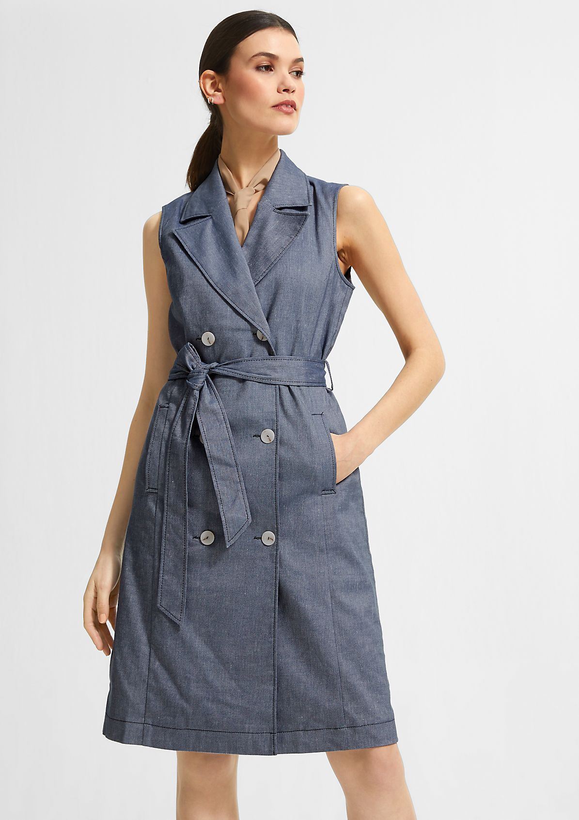 Trench-Dress mit Reverskragen