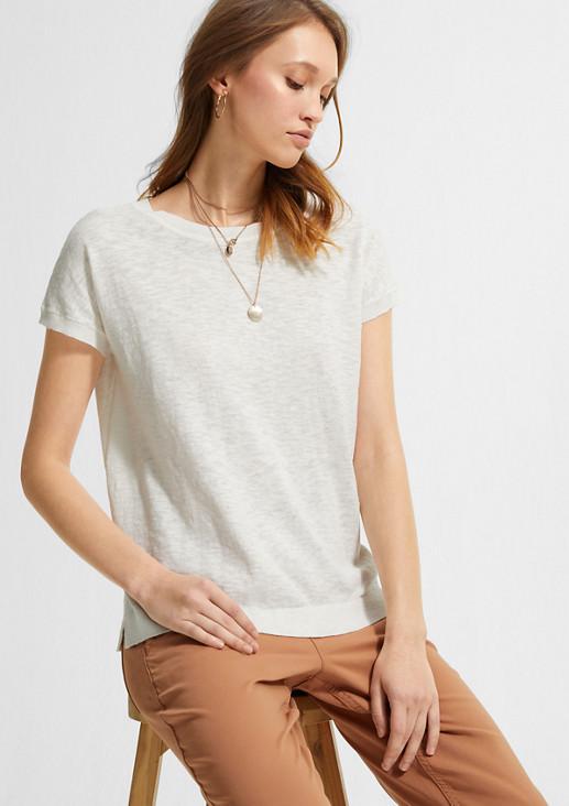 Shirt im Leinenmix