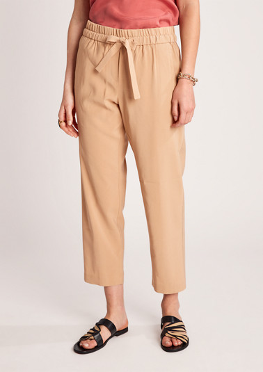 Regular Fit: trousers with a drawstring from comma