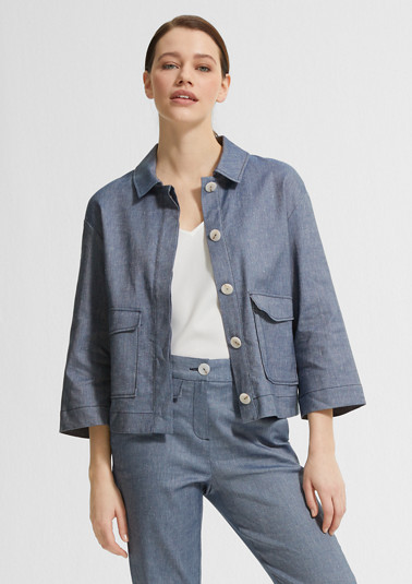 Cropped jacket in a boxy cut from comma