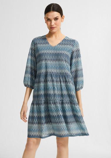 Lockeres Kleid aus Strukturstrick