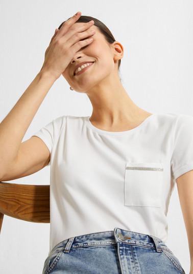 Modalmix-Shirt mit Brusttasche