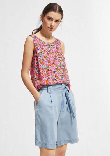 Printed, layered blouse from comma