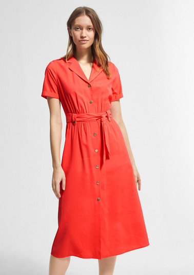 Shirt dress with a tie-around belt from comma