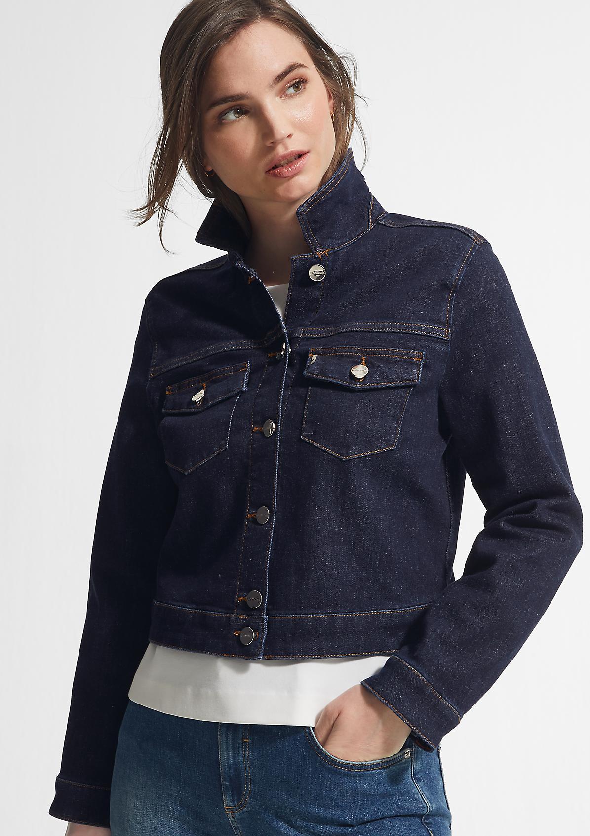 Kurze Jacke aus Stretchdenim