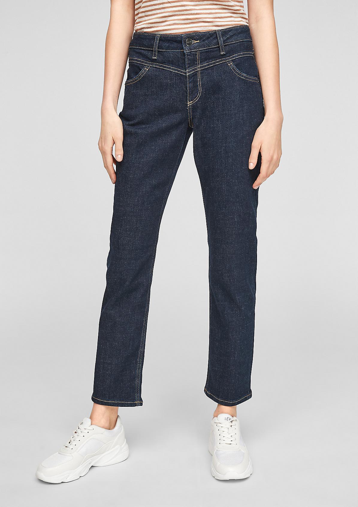 Slim Fit: Leicht ausgestellte Jeans
