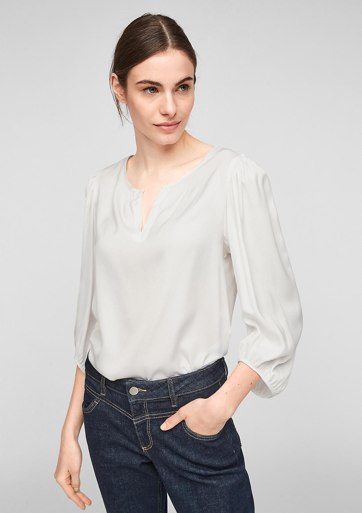 Bluse aus fließender Qualität