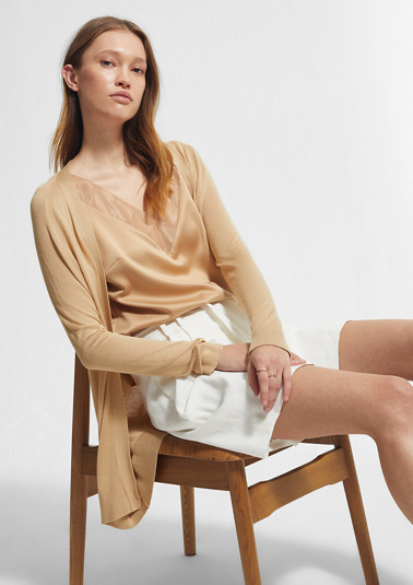 Lightweight, fine knit cardigan from comma