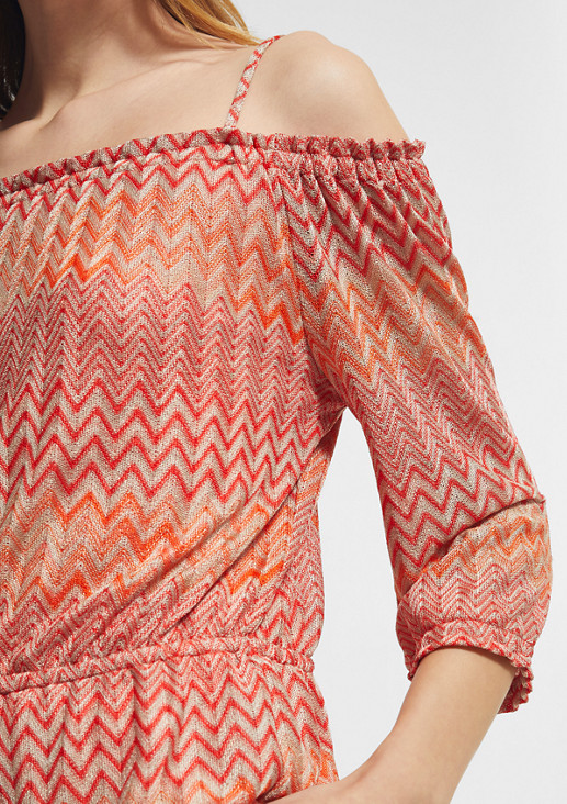 Pullover mit Off Shoulder-Ausschnitt