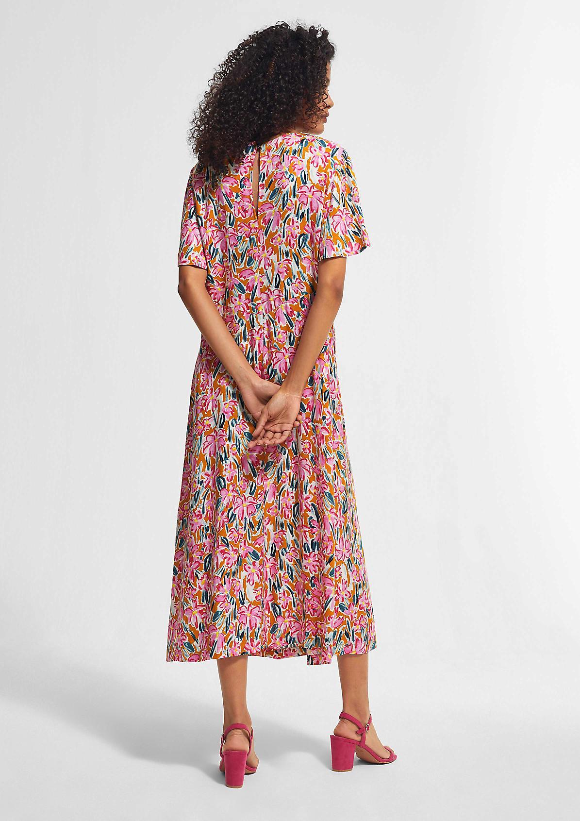 Florales Kleid mit Tunnelzug