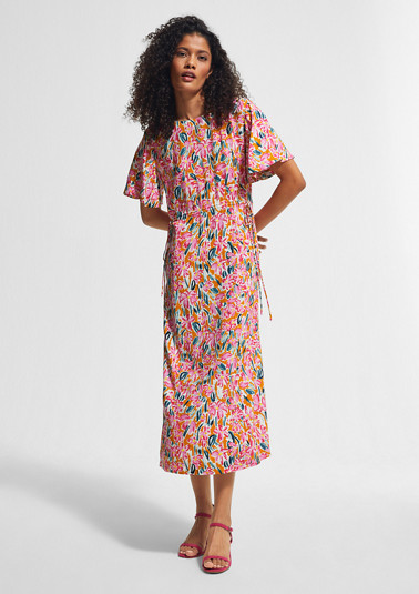 Floral drawstring dress from comma