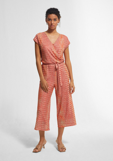 Jumpsuit with a zigzag pattern from comma
